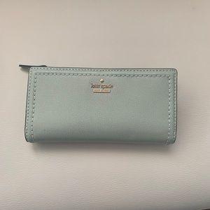 Kate Spade Mint Green Blue Wallet
